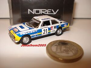 Norev Peugeot 504 Coupe Rally Of Bandama 1976 to the / 1/87° Scale / Ladder Ho