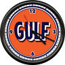 Gulf Gas Service Station Pump Attendant Retro Vintage Gasoline Sign Wall Clock