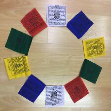 10 THICK COTTON Tibetan Buddhist Prayer Flags HIGH QUALITY 4 FOOT LONG!!