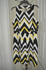 INC International Concepts Sun & Sea Ikaty Zig Zag Dress Size 12 NWT $119.50