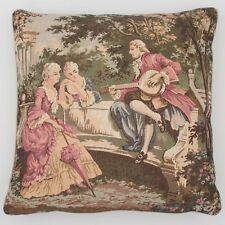 "French Country Toile Tapestry Cushion / Pillow Cover Sham 45cm 17.5"" Square New"