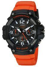 Casio Men's Chronograph Watch, 100 Meter WR, Orange Resin, Date, MCW100H-4AV