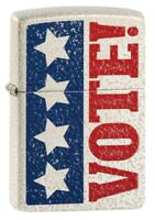 Zippo Vote Design Mercury Glass Matte Windproof Pocket Lighter, 49181-081164