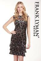 Frank Lyman 183837 black sleeveless dress knee length uk10 REDUCED