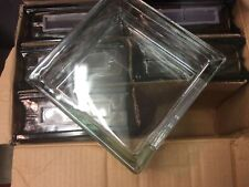 """Case Quantitiy Of 6 Glass Block For Crafts 7 1/2""""X7 1/1/2""""X 3"""" W/ Light Hole"""