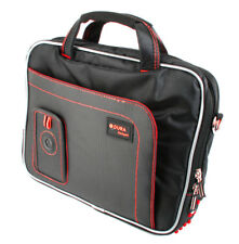 Red/Black Storage Bag For Fujitsu STYLISTIC Q572 With Shoulder Carry Strap