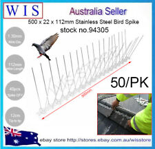 50/PK Stainless Steel Pest Control Bird Spike,500 x 22 x 112mm,Pest Control94305