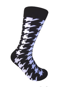 Men's Mid-calf Various colors Houndstooth  Pattern Multi-occasion Dress  Socks
