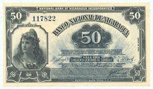 NICARAGUA 50 Centavos 1938 P81 UNC