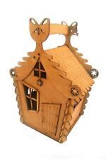 Attractive Handmade Home Shape Plywood Box Basket For Candy And Gifts