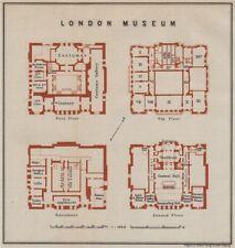 LONDON MUSEUM floor plan. Lancaster House, St James's.Museum of London 1930 map