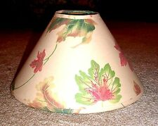 Pretty Beige with Pink, Green & Gold Leaf Design Empire Shaped Lampshade*