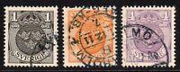 Sweden Set of 3 Stamps c1910-14 Used (7385)