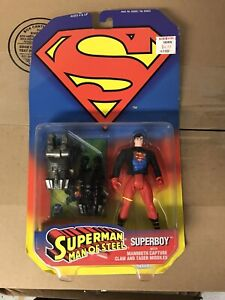 SUPERMAN MAN OF STEEL SUPERBOY  MAMMOTH CAPTURE CLAW & TASER MISSILE KENNER 1995