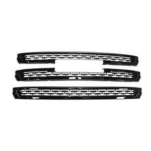Black Grille Overlay Trims (3 Pieces Kit) FOR 2020 2021 GMC ACADIA SLE SLT AT4