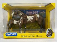 BREYER Overo Paint Mare and Foal Gift SET 1446 Retired