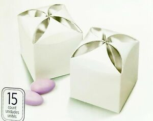 Favor Box in White Silver Petal by Wilton for Party Wedding Decoration 15 count