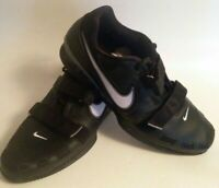 Nike Romaleos 2 Mens Size 15 Weightlifting Trainer Shoes Black White Swoosh