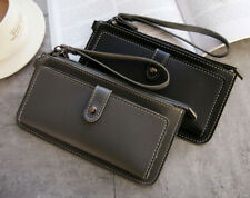 Card Wallet Pouch Zipper With Strap pocket Bag Holster PU Leather New Phone Case