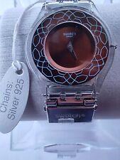 SWATCH SKIN MESHSTREAM ANIMAL SKIN - SFK375 - 2013 - with SILVER 925 strap