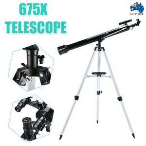 Aperture Astronomical 675x Zoom HD High Resolution Telescope w/3 Eyepieces AU