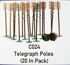 C024 DAPOL KITMASTER TELEGRAPH POLES & CABLE DRUMS  00/HO KIT