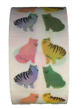 "400 Cat stickers in roll of 100 modules (2"" x 2""), each sticker 1.00"" RM0206"
