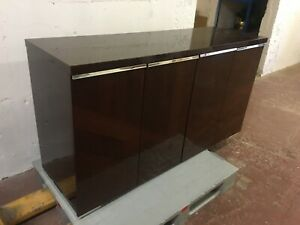 BEAUTIFUL ITALIAN DARK BROWN VENEERED SIDEBOARD