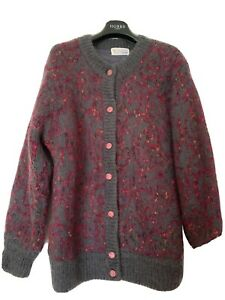 Stunning Retro vintage Graziosa Superiare Mohair & Wool cardigan Excellent M/L