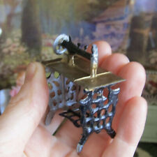 Antique Dollhouse Metal VICTORIAN SEWING MACHINE Vtg Miniature PENNY TOY Nursery