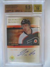 2005-06 Upper Deck Ultimate Collection Jeff Carter RC Rookie Auto BGS 9.5 /299