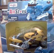 2009 MAISTO ALL STARS two wheelers 1/18 HONDA motorcycle YELLOW BLACK in BOX NEW