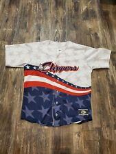 OT Sports Columbus Clippers Baseball Flag Jersey Sz Small Stitched EUC