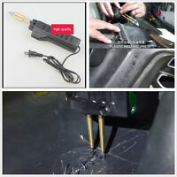 220V Hot Stapler Car Auto Bumper Weld Gun Plastic Repair Tool Kit Staples Pliers