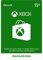 Xbox Live 15 Euro Card Microsoft - MS 15 € Guthaben Karte Xbox 360 Code Key [EU]