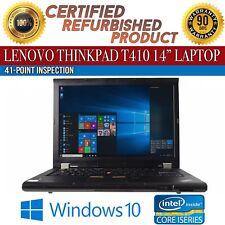 "Lenovo ThinkPad T410 14"" Intel i5 4 GB RAM 320 GB HDD Win 10 WiFi B Grade Laptop"