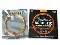 Gitarrensaiten Set für Akustikgitarren - Stahlsaiten 6x - The Rose + 3 Piks Free