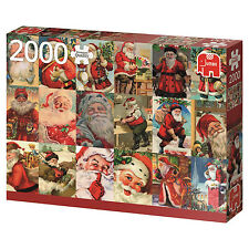 Jumbo Games Vintage Santas 2000 Piece Christmas Jigsaw Puzzle 18589