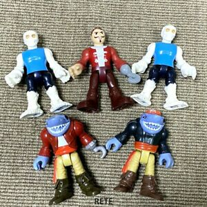 5PCS Fisher Price Imaginext Pirate Adventures Shark Pirate Skelton Ghost Figures