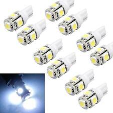 10pz Xeno Bianco T10 5-SMD 5050 LED Lampadine 192 168 194 W5W 2825 158 Hotsel