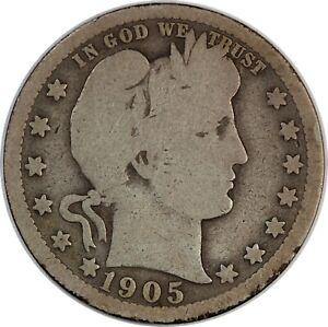 1905 United States Barber Head Quarter - G+ Good Plus Condition