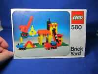 1975 Lego BRICK YARD #580 Instruction Manual Booklet ONLY