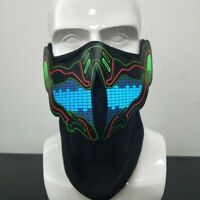 Halloween LED LIGHT UP FACE COVER Flashing lights with sounds activated