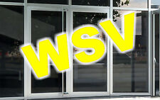 """3 Aufkleber Schriftzug  """"WSV"""" Winterschlussverkauf Schlussverkauf Schaufenster"""