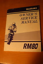 2000 Suzuki RM80 Owners Service Manual