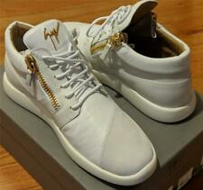 $750 Mens Giuseppe Zanotti Double Zip Leather Trainer Sneakers White 43 Us 10