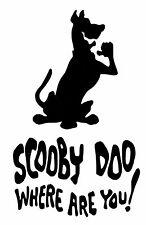 Scooby Doo dónde estás Vinilo Calcomanía Adhesivo para Coche Furgoneta Camper Casa Etc.