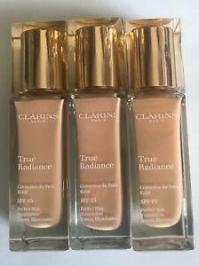 Clarins True Radiance Foundation SPF15 -30ML- Various Shades- Free Post-