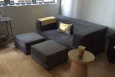 Sofa Queen Size Sleeper, Gray Upholstery