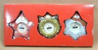 Burnes Of Boston Picture Frame Christmas Ornaments Angel, Santa Star & Snowflake